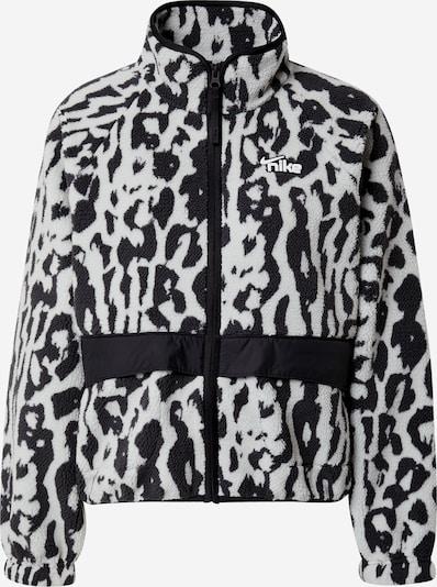 Nike Sportswear Sherpa Jacke in grau / schwarz / weiß, Produktansicht