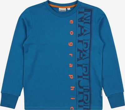 NAPAPIJRI Sweatshirt 'BADYR' in taubenblau / orange / schwarz, Produktansicht