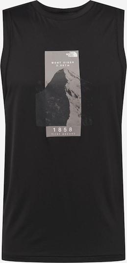 THE NORTH FACE T-Shirt fonctionnel 'GLACIER' en greige / noir / blanc, Vue avec produit
