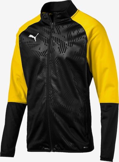 PUMA Jacke in gelb / schwarz / weiß: Frontalansicht
