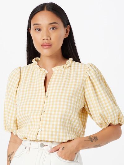 SISTERS POINT Bluse 'ERA' in gelb / weiß, Modelansicht