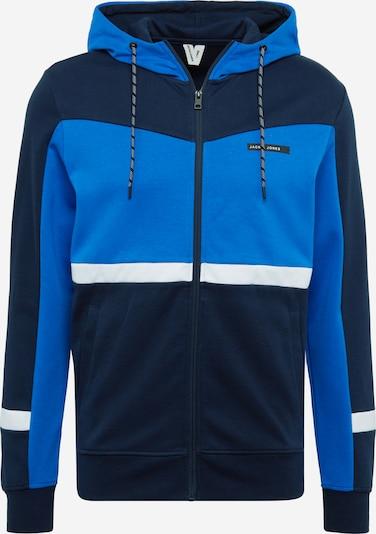 Džemperis 'Zack' iš JACK & JONES , spalva - mėlyna / tamsiai mėlyna / balkšva, Prekių apžvalga