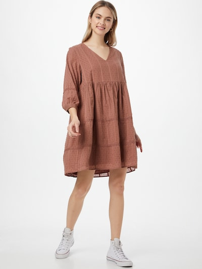 OBJECT Kleid 'Geillis' in karamell, Modelansicht