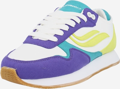 GENESIS Baskets basses 'Iduna Pinatex' en turquoise / jaune citron / violet clair / blanc, Vue avec produit