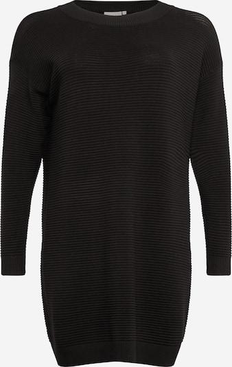 Rochie tricotat KAFFE CURVE pe negru, Vizualizare produs