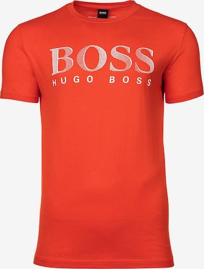 BOSS Casual T-Shirt in orangerot / weiß, Produktansicht