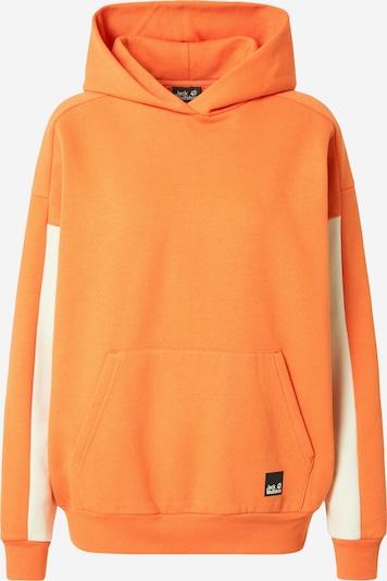 JACK WOLFSKIN Sweatshirt en crème / mandarine, Vue avec produit