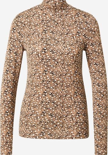 VILA Shirt 'BULIS' in de kleur Lichtbruin / Zwart / Wit, Productweergave