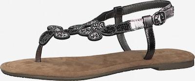 Flip-flops s.Oliver pe gri metalic, Vizualizare produs