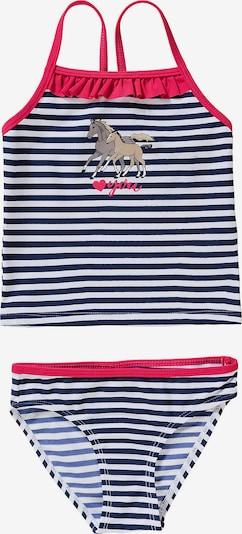 SALT AND PEPPER Bikini en bleu / marron / rose / blanc, Vue avec produit