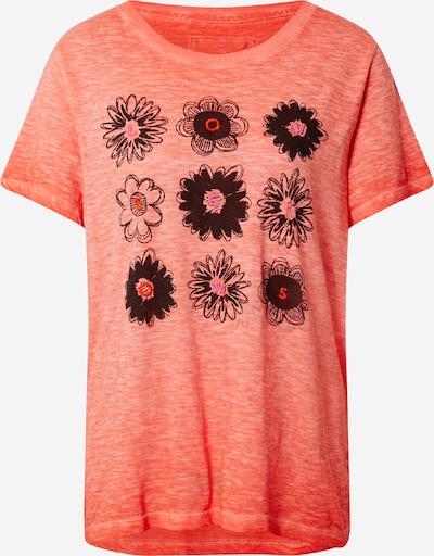LIEBLINGSSTÜCK Тениска 'Dina' в тъмнооранжево / черно, Преглед на продукта