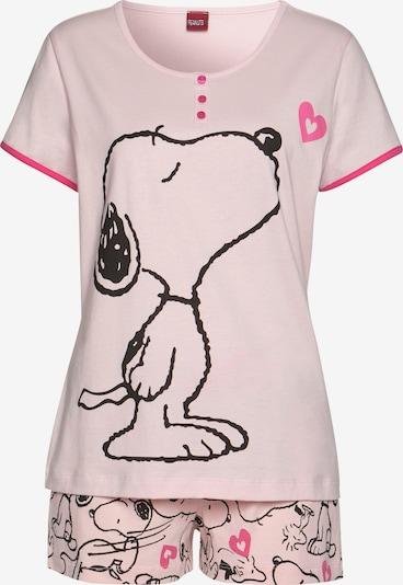 PEANUTS Short Pajama Set in Pink / Neon pink / Black, Item view