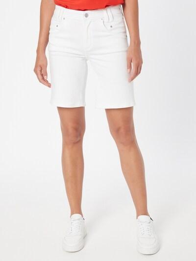 Pantaloni 'Betsy' s.Oliver pe alb denim, Vizualizare model