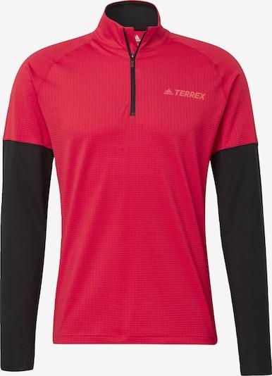 ADIDAS PERFORMANCE Sportsweatshirt 'Terrax' in de kleur Rood / Zwart, Productweergave