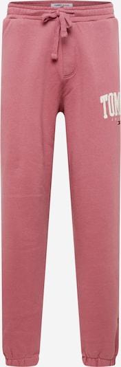 Tommy Jeans Pantalon en rose ancienne / blanc, Vue avec produit