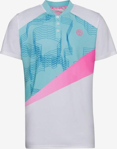 BIDI BADU Poloshirt 'Kesar' in türkis / pink / weiß, Produktansicht