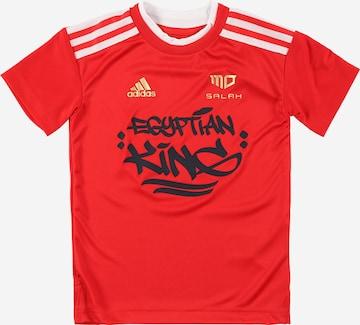 T-Shirt fonctionnel 'SALAH' ADIDAS PERFORMANCE en rouge
