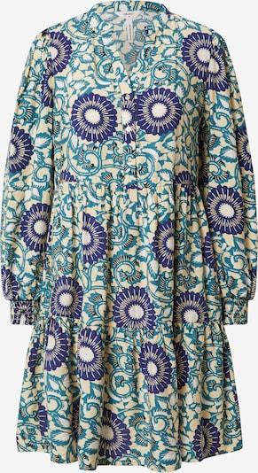 OBJECT Robe-chemise 'Clava' en sable / bleu / pétrole, Vue avec produit
