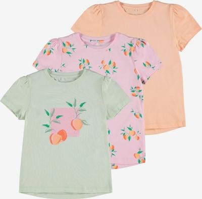 Tricou NAME IT pe verde iarbă / verde pastel / caisă / portocaliu deschis / roz deschis, Vizualizare produs