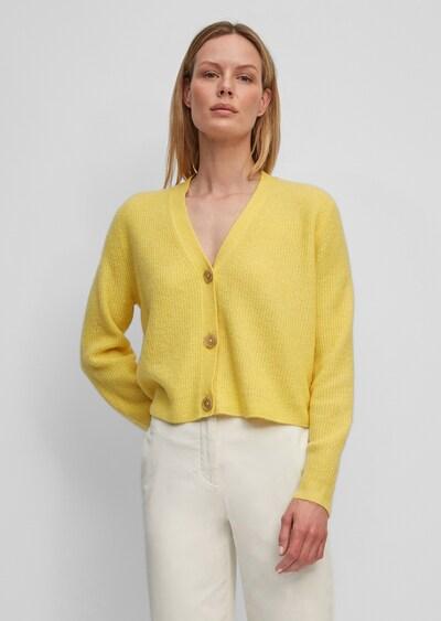 Marc O'Polo Strickjacke in gelbmeliert, Modelansicht