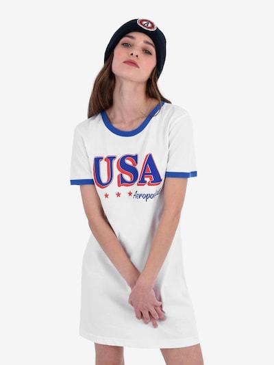 kék / narancsvörös / fehér AÉROPOSTALE Ruha 'USA', Modell nézet
