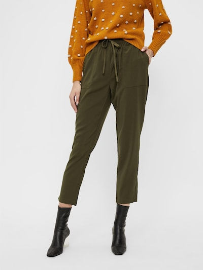 OBJECT Pantalon 'Aria' en olive, Vue avec modèle