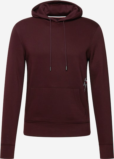 TOMMY HILFIGER Sweatshirt in de kleur Bourgogne / Wit, Productweergave