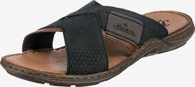RIEKER Pantolette in nachtblau / rostbraun, Produktansicht