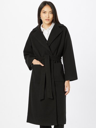 ICHI Tussenmantel 'JANNET' in de kleur Zwart, Modelweergave