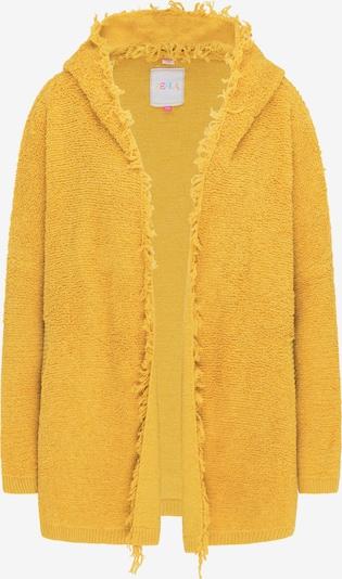 IZIA Pleten plašč | rumena barva, Prikaz izdelka