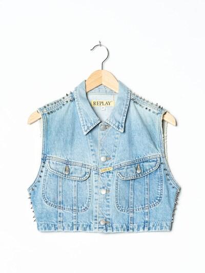 REPLAY Jeansweste in XS-S in hellblau, Produktansicht