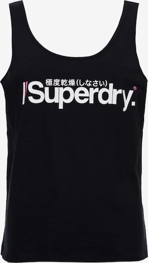 Superdry Sporttop in de kleur Zwart / Wit, Productweergave