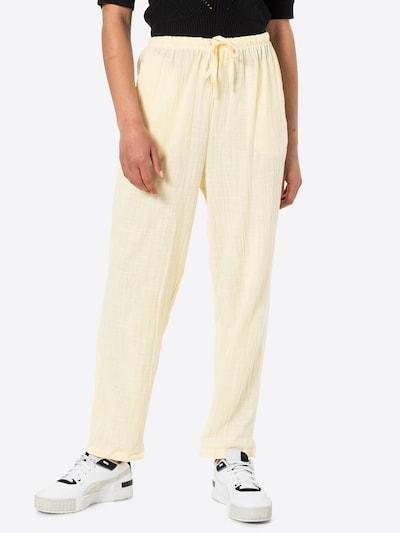 Cotton On Voltidega püksid 'CALI' helekollane, Modellivaade