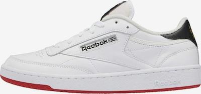 Reebok Classics Sneaker 'Club C 85' in gelb / rot / schwarz / weiß, Produktansicht
