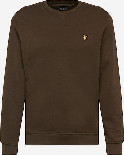 Lyle & Scott Sweatshirt in de kleur Ombergrijs / Geel / Zwart, Productweergave