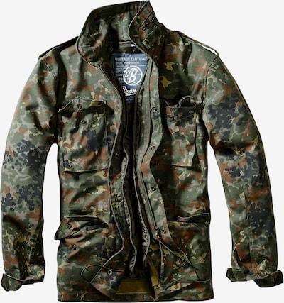Brandit Jacke in braun / grün / oliv / schwarz, Produktansicht