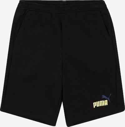 PUMA Broek in de kleur Blauw / Pasteelgeel / Zwart, Productweergave