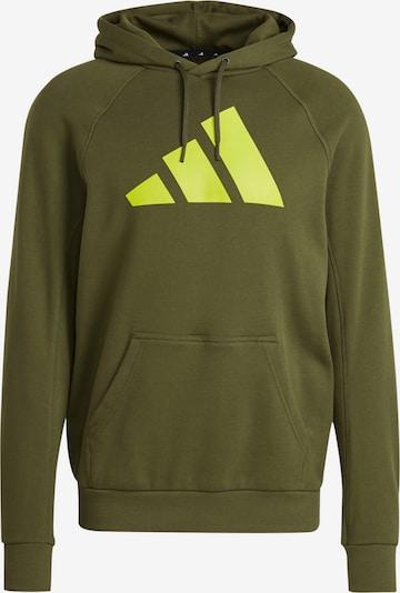 ADIDAS PERFORMANCE Športová mikina - kaki / neónovo zelená, Produkt