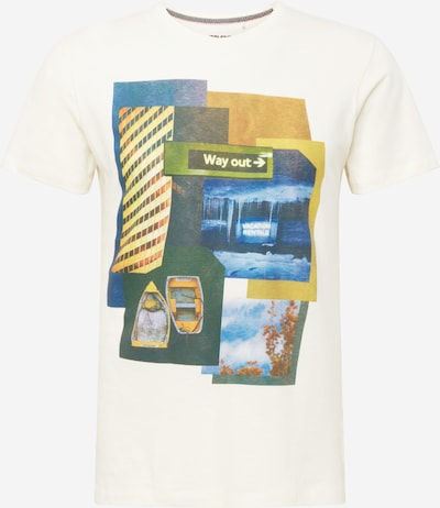 BLEND Shirt in blau / gelb / weiß, Produktansicht