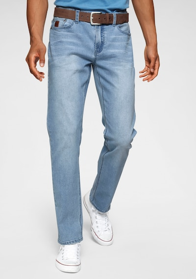 BRUNO BANANI Jeans »Hutch« in blue denim, Modelansicht