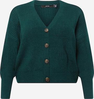 Vero Moda Curve Kardigan 'LEA' w kolorze zielony