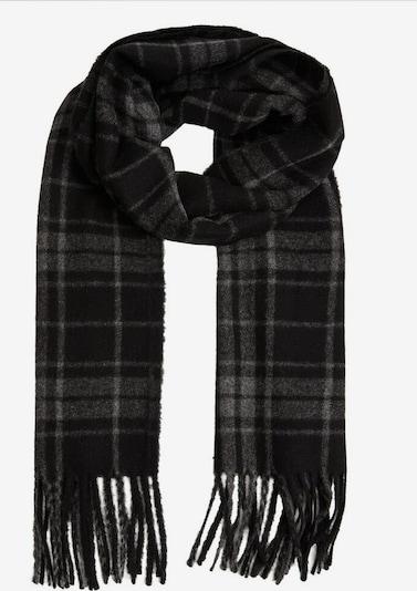 MANGO MAN Schal 'Wood' in grau / schwarz, Produktansicht