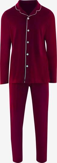 SEIDENSTICKER Langarm Pyjama ' Contemporary Elegance ' in weinrot, Produktansicht