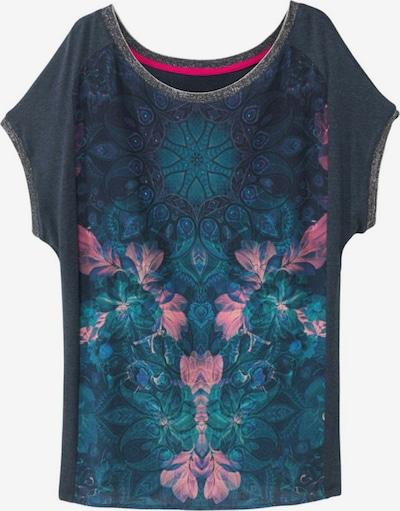 Tricou 'COPENHAGUE' Desigual pe albastru marin / verde jad / roz deschis / argintiu, Vizualizare produs