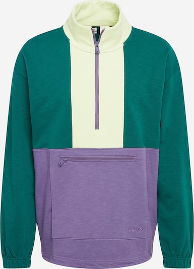 LEVI'S Sweatshirt in de kleur Crème / Smaragd / Lila, Productweergave
