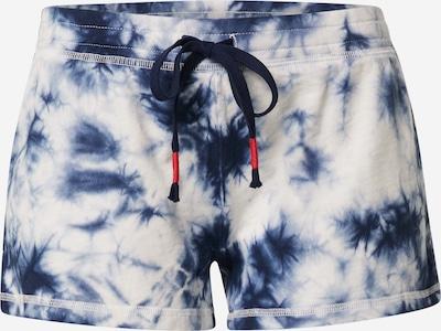 PJ Salvage Pidžaamapüksid 'Tie Dye' tumesinine / valge, Tootevaade