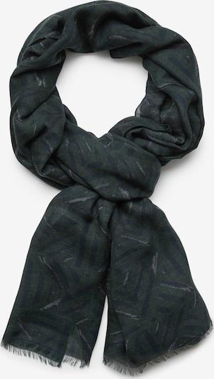 Fular Boggi Milano pe albastru închis / kaki / negru, Vizualizare produs