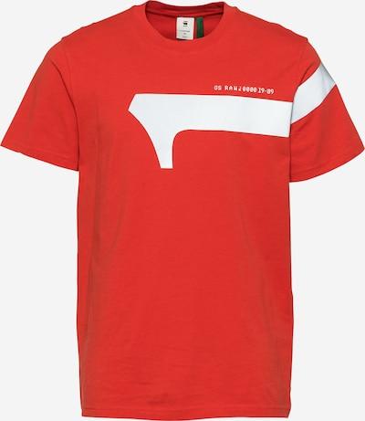 G-Star RAW Shirt in de kleur Rood / Wit, Productweergave