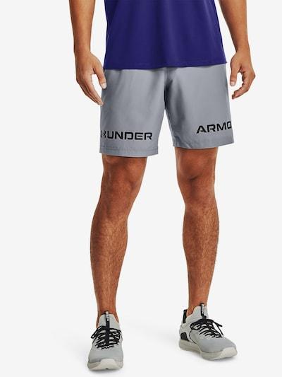 UNDER ARMOUR Športové nohavice - svetlosivá / čierna, Model/-ka