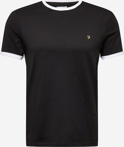 FARAH T-Shirt 'GROVES RINGER' en noir / blanc, Vue avec produit